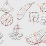 Рисунок архитектурных форм на основе простых геометрических тел