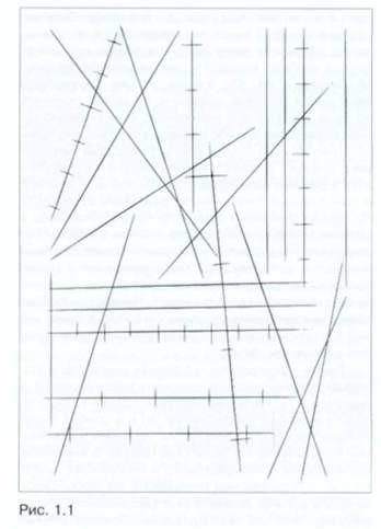Рисунок прямых линий «от точки к точке»