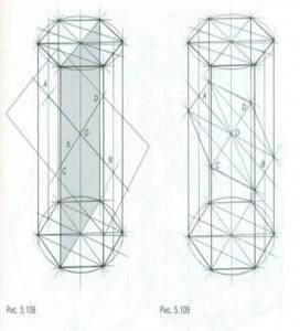 Наклонное сечение шестигранной призмы