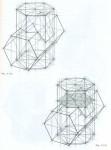 Врезка двух шестигранных призм