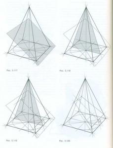 Наклонное сечение пирамиды