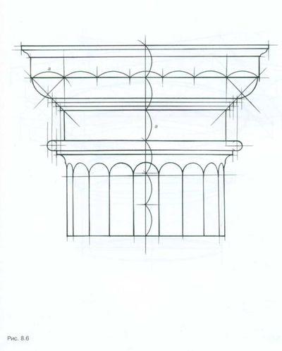Рисунок дорической капители