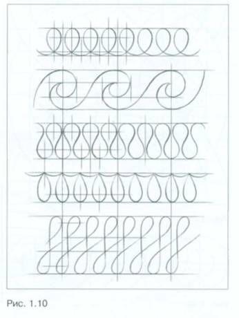 Рисунок кривых линий по опорным точкам