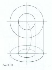 Рисунок цилиндров разного диаметра, поставленных друг на друга