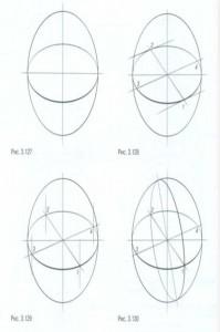 Линейно-конструктивный рисунок шара