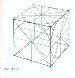 Рисунок шара, стоящего на кубе