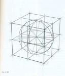 Рисунок куба, описанного вокруг шара