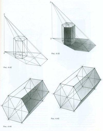 Тональный рисунок четырехгранной и ...: hspline.com/tonalnyj-risunok-chetyrexgrannoj-i-shestigrannoj-prizm...