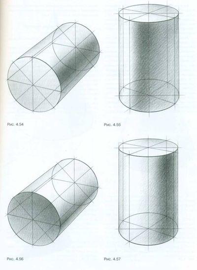 Тональный рисунок цилиндра