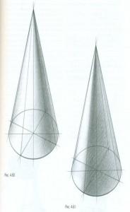 Тональный рисунок конуса