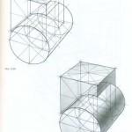 Врезка куба и цилиндра