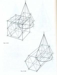 Врезка конуса и шестигранника